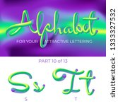 3d vector alphabet with rounded ...   Shutterstock .eps vector #1333327532