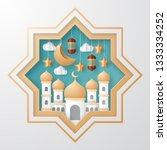 ramadan kareem background... | Shutterstock .eps vector #1333334252