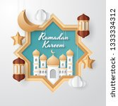 ramadan kareem background... | Shutterstock .eps vector #1333334312