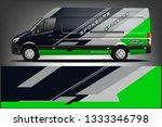 van wrap livery design. ready ...   Shutterstock .eps vector #1333346798