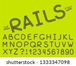 set of vector modern abstract... | Shutterstock .eps vector #1333347098