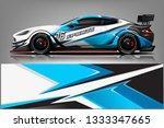 car wrap design vector  truck... | Shutterstock .eps vector #1333347665