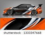 car wrap design vector  truck... | Shutterstock .eps vector #1333347668