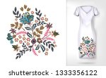 embroidery colorful trend... | Shutterstock . vector #1333356122