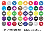 set of forty white arrows to... | Shutterstock .eps vector #1333381532