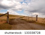 Ranch Gate Standing Open To...