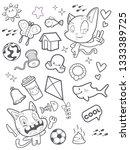 cute cat doodle cartoon | Shutterstock . vector #1333389725