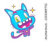 cute and funny cat | Shutterstock . vector #1333389752