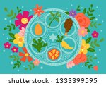 passover holiday cute... | Shutterstock .eps vector #1333399595