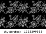 seamless black and white floral ... | Shutterstock . vector #1333399955