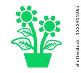 plant and sprout growing icons... | Shutterstock .eps vector #1333401065