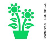 plant and sprout growing icons... | Shutterstock .eps vector #1333401068