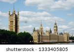 The Houses of Parliament, or Palace of Westminster, on the River Thames in London, the meeting place of the House of Commons and House of Lords, and a famous tourist destination