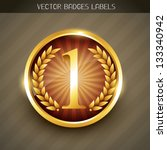 best quality no.1 golden label... | Shutterstock .eps vector #133340942