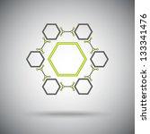 connected cell.the hexagonal...   Shutterstock .eps vector #133341476