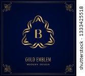 gold monogram. letter b....   Shutterstock .eps vector #1333425518