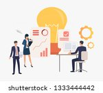 light bulb and company workers...   Shutterstock .eps vector #1333444442