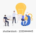 light bulb and company staff... | Shutterstock .eps vector #1333444445