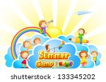 vector illustration of kid... | Shutterstock .eps vector #133345202