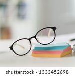 business objects glasses ... | Shutterstock . vector #1333452698