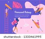 permanent makeup. the scene... | Shutterstock . vector #1333461995