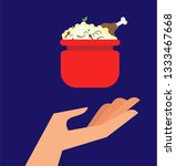 vector illustration of a hand...   Shutterstock .eps vector #1333467668