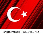 turkish national flag with... | Shutterstock . vector #1333468715