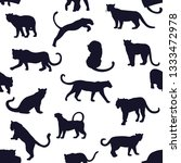 seamless pattern of hand drawn... | Shutterstock .eps vector #1333472978