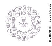 cooking with love circular... | Shutterstock .eps vector #1333473392