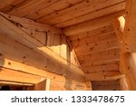 roof of the russian wooden bath ... | Shutterstock . vector #1333478675