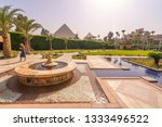 fountain and swimming pool with ...   Shutterstock . vector #1333496522