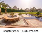 fountain and swimming pool with ...   Shutterstock . vector #1333496525