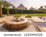 fountain and swimming pool with ...   Shutterstock . vector #1333496528