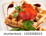 belgian waffles with...   Shutterstock . vector #1333508315