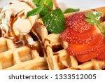 belgian waffles with...   Shutterstock . vector #1333512005