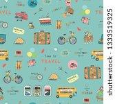 travel illustrations doodle...   Shutterstock . vector #1333519325
