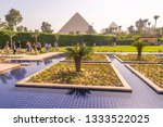swimming pool and park with...   Shutterstock . vector #1333522025
