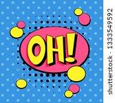 comic speech bubbles. pop art... | Shutterstock .eps vector #1333549592