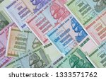 banknotes of zimbabwe after... | Shutterstock . vector #1333571762