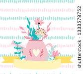 empty spring card template.... | Shutterstock . vector #1333578752
