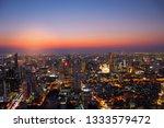 aerial view cityscape bangkok... | Shutterstock . vector #1333579472