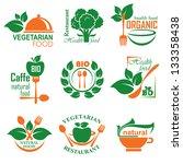 set vector labels and emblems... | Shutterstock .eps vector #133358438