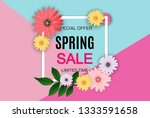 spring sale cute background... | Shutterstock .eps vector #1333591658