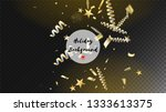 modern tinsel confetti isolated ...   Shutterstock .eps vector #1333613375