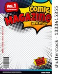 comic book page template design.... | Shutterstock .eps vector #1333615355