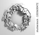 dark destruction cracked hole... | Shutterstock . vector #1333630472