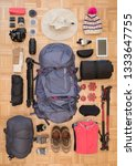 top view and flat lay of women... | Shutterstock . vector #1333647755