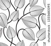 floral seamless pattern. leaves ... | Shutterstock . vector #1333683395