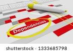 dependencies effects results... | Shutterstock . vector #1333685798
