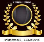 gold laurel wreath. eps10... | Shutterstock .eps vector #133369046